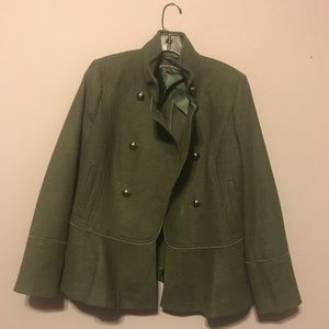 Banana republic olive green coat